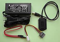 Кабель USB на SATA - IDE с блоком питания