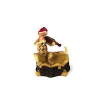 Пепельница статуэтка ящерица играющая на музыкальных инструментах 4 модели S2420
