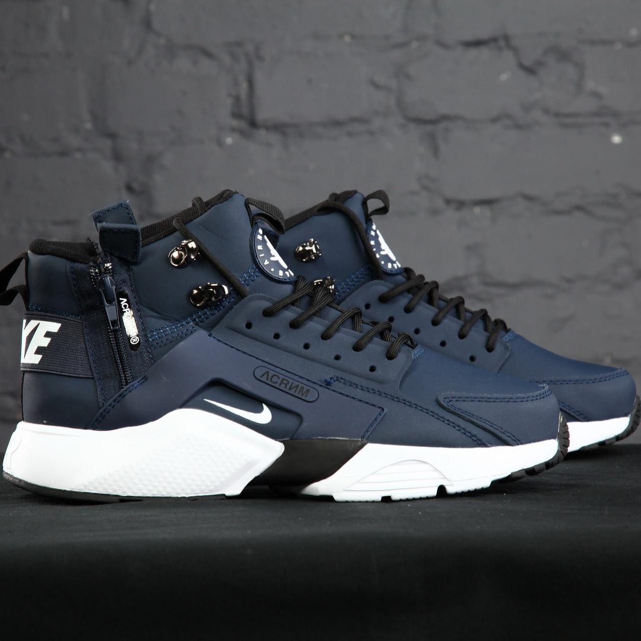 Мужские кроссовки Nike Huarache Acronym Concept Navy/White