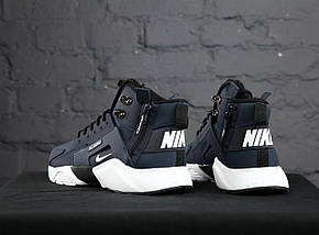 Мужские кроссовки Nike Huarache Acronym Concept Navy/White, фото 3