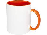 Цветная кружка Pix для сублимации, белый/оранжевый (10052205_OS)