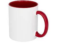 Цветная кружка Pix для сублимации, белый/красный (10052202_OS)