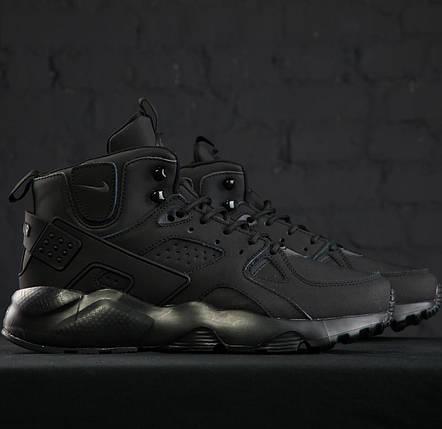 Мужские утепленные кроссовки в стиле Nike Air Huarache Winter Black, фото 2
