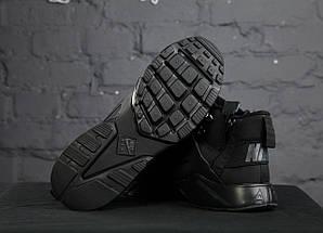 Мужские утепленные кроссовки в стиле Nike Air Huarache Winter Black, фото 3