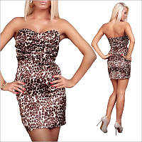 Леопардовое платье-бландо