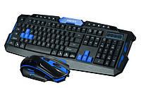 Беспроводная клавиатура с мышкой игровая UKC HK8100