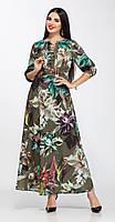 Платье La Kona-1144 белорусский трикотаж, акварель, 42