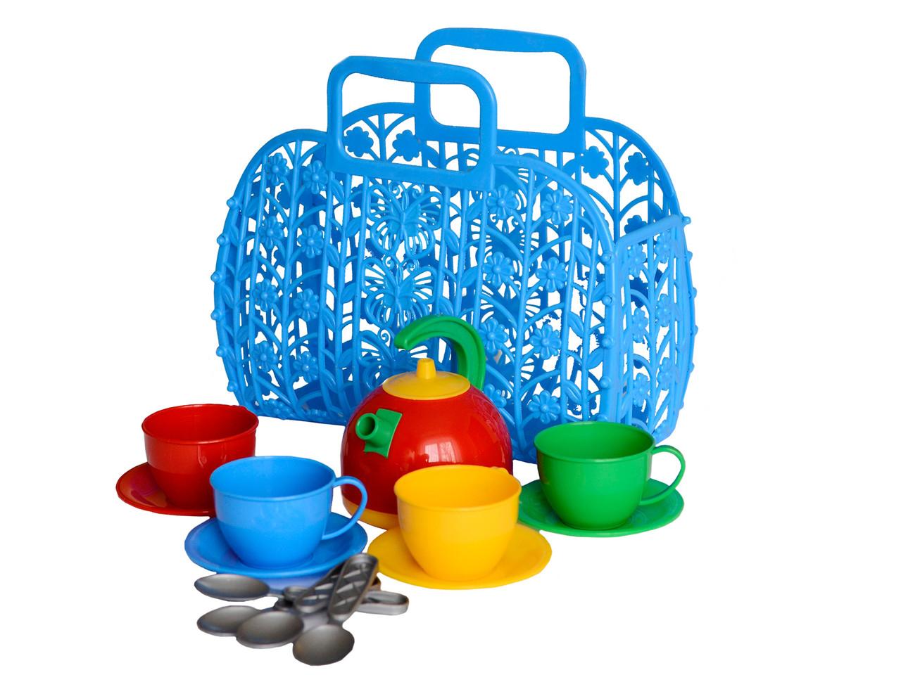 Детский игровой набор посудка Корзинка с набором посуды ТехноК пластик - Style-Baby детский магазин в Киеве