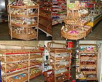 Торговые стеллажи плетеные