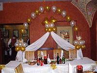 Оформление и украшение свадьбы воздушными шарами, цветами, драпировка тканями в Харькове и области