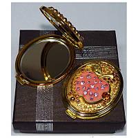 Зеркальце двухстороннее в подарочной упаковке Австрия №6960-T70G-16
