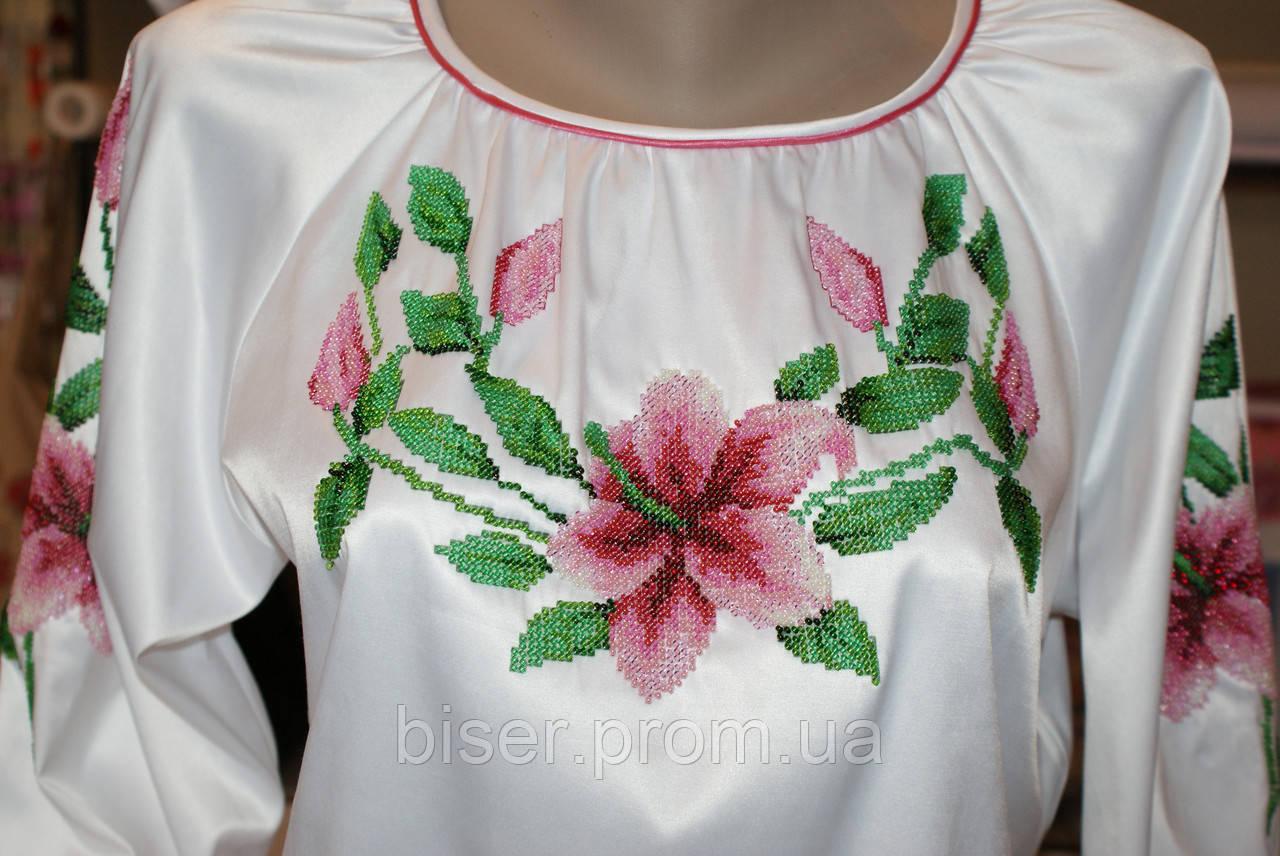 схема женской вышиванки 44 размер