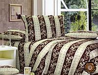 Комплект постельного белья Орнамент бязь люкс 100% хлопок коричневый