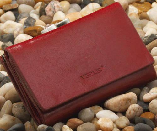 Кожаное женское портмоне VERUS Milano, артикул: 89R ML красный