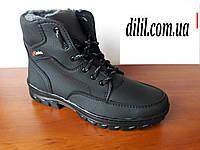 Ботинки мужские зимние черные теплые удобные (код 394), фото 1