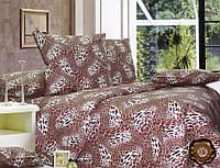 Комплект постельного белья Гепард бязь люкс 100% хлопок коричневый