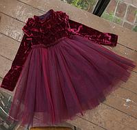 Теплое красивое платье для девочки