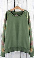 Женская зеленая толстовка ,зелений свитер ,женская теплая кофта