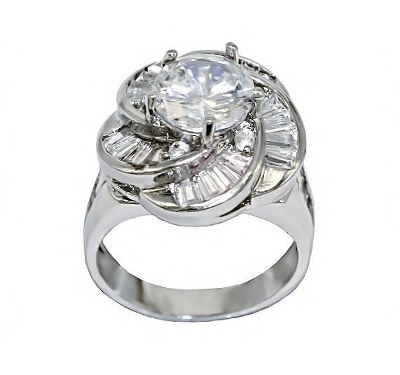 Кольцо фирмы Neoglory. Камни: белый  циркон. Цвет: серебро. Есть: 17р. 18 р.