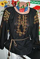 """Блузка женская вышитая нитками """"Орнамент"""" .Ручная работа. Полотно.48 размер"""