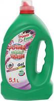 Жидкий стиральный порошок для цветного белья 5,1л Power Wash HIM-80199
