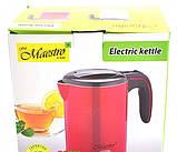 Электрический чайник красный, фото 3