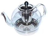 Чайник стеклянный с металлическим ситом Индукция 1300 мл ( заварник ), фото 2