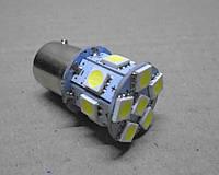 Светодиодная лампа габаритов, стопов, заднего хода 12В ВАЗ, ЗАЗ, ГАЗ, УАЗ P21W белая, фото 1