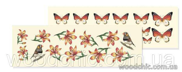 """Двусторонний лист  WOODchic """"Метелики"""""""