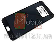 Модуль для Meizu M2 Note   Дисплей + тачскрин с передней панелью черный оригинал PRC