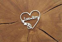 Чипборд Love Story в сердце
