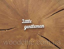 Чипборд надпись Чипборд надпись Little genteleman 6 см.