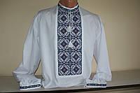 Мужская сорочка вышиванка (рубашка вышитая нитками, ручная работа), размер 48, 50