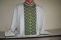 Мужская  рубашка вышитая нитками на полотне. Ручная работа . 50 размер.