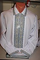 Вишита чоловіча сорочка.Ручна вишивка на полотні.48 розмір