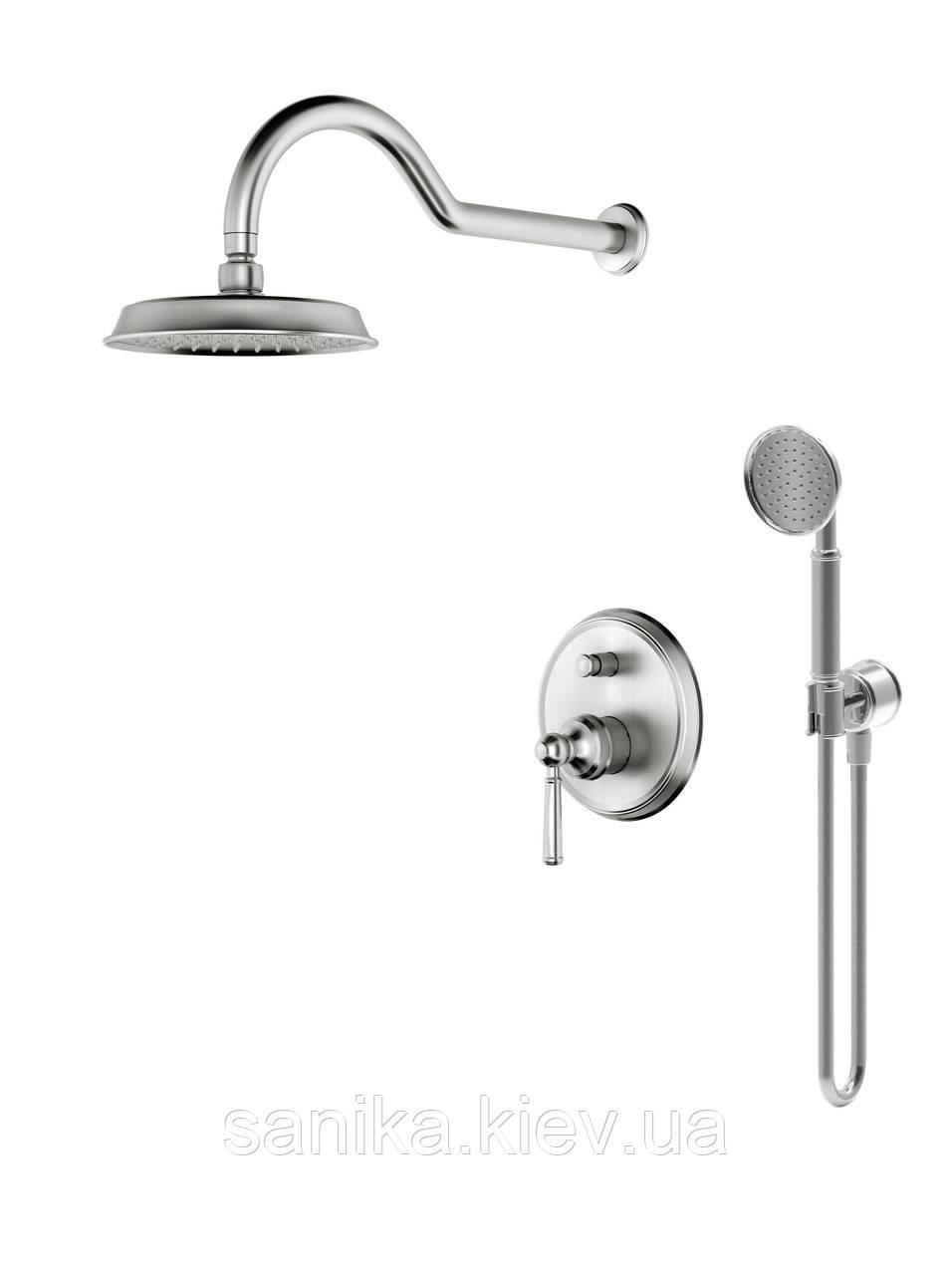 Комплект для душа скрытого монтажа IMPRESE HYDRANT (смес.скрытого монтажа, верхн.душ,ручной душ)