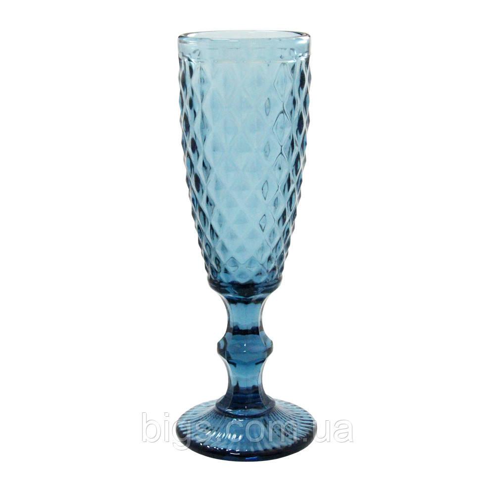 Бокал-шампанское Изумруд2 синий 150 мл ( фужер )