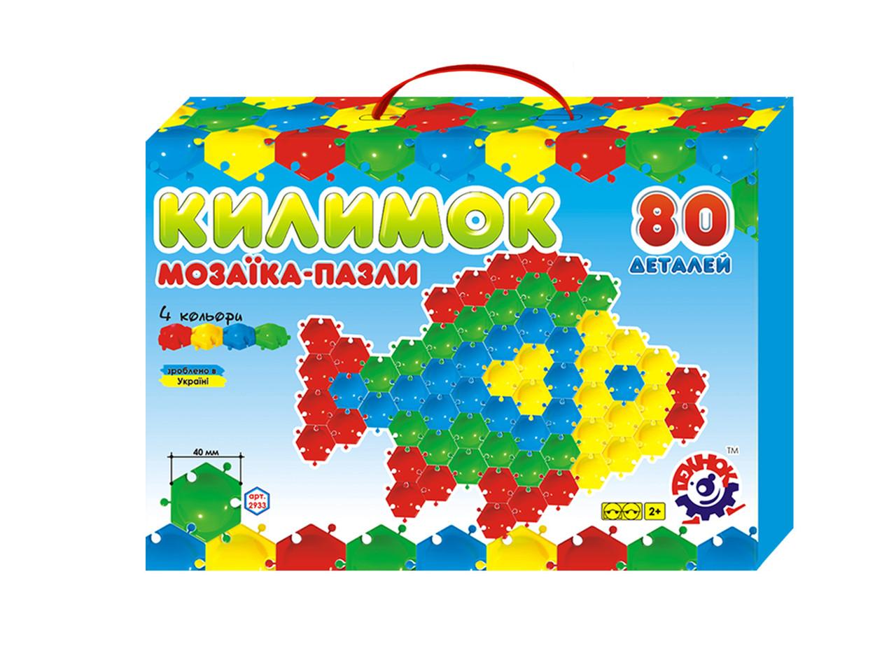 Детская игра Мозаика-пазлы Коврик 80 деталей пластик Технок - Style-Baby детский магазин в Киеве