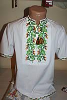 Детская рубашка вышитая на полотне. Ручная вышивка .28 размер