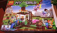Конструктор Lele 33179 Minecraft Майнкрафт 2 в 1 Водяная мельница 161 деталь., фото 1