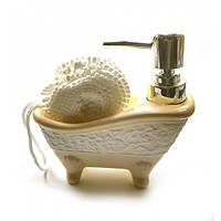 Кремовый диспенсер Ванна для мыла с мочалкой