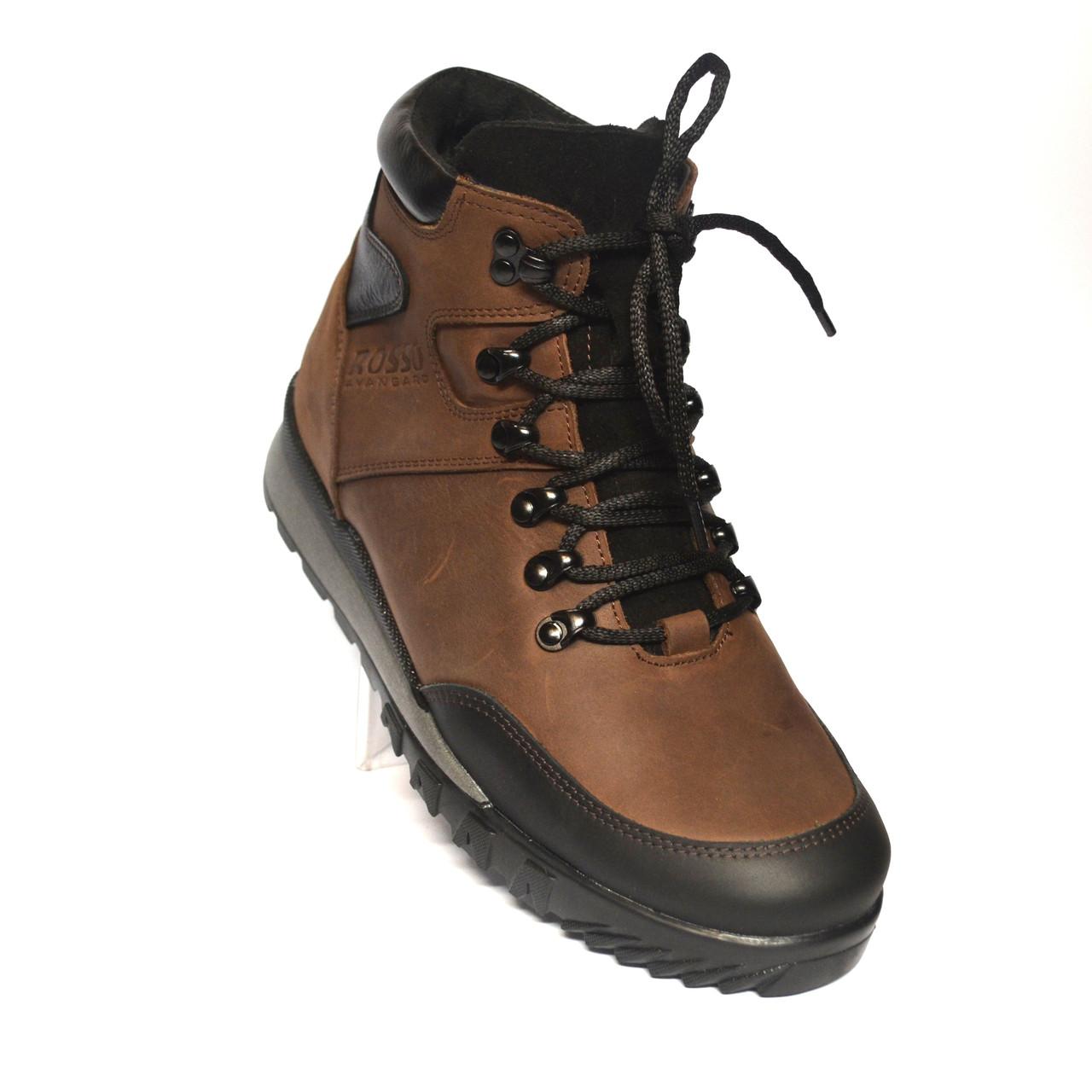 Коричневые зимние мужские ботинки Rosso Avangard Lomerback Grayline Brown Кожа