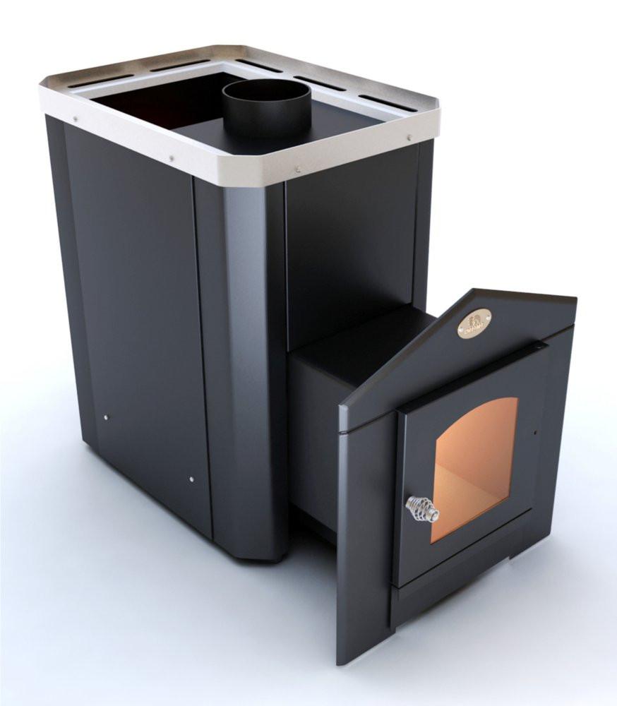 Дровяная печь  для бани Новаслав Классик ПКС - 02 (Дверца с термостойким стеклом)