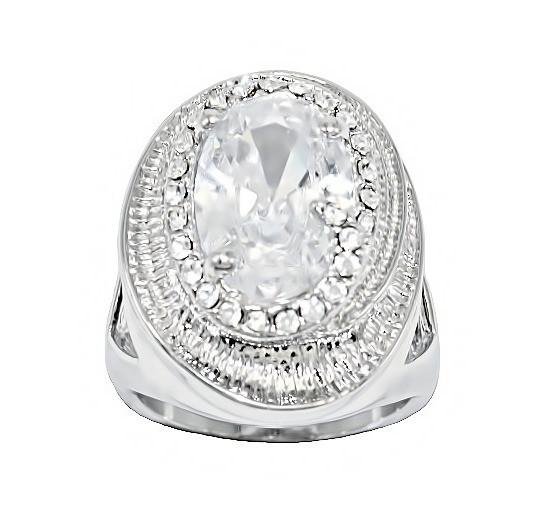 Кольцо фирмы Neoglory. Камни: белый  циркон. Цвет: серебро. Есть: 17р. 18р.