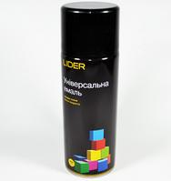 Эмаль универсальная Lider 400 мл. черная глянец №9005