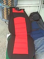 Накидки на сиденья универсальные черный с красным