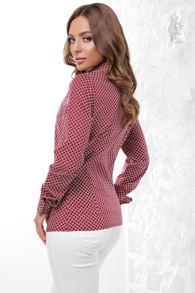 Фото-1 Женской приталенной блузки Ромбус-5