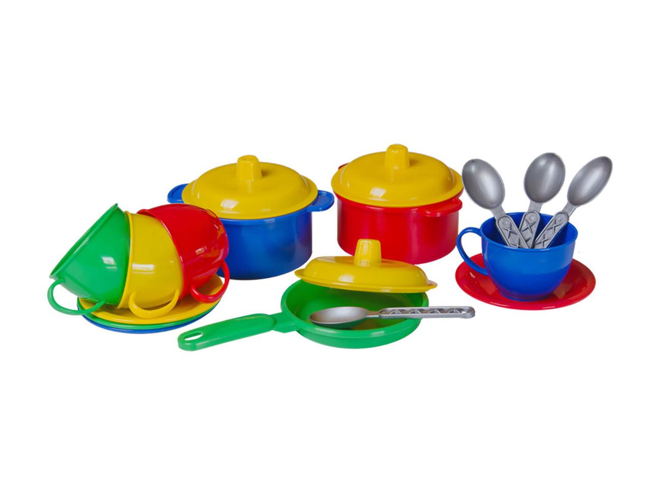 Детская посудка Маринка 1 (в кульке) пластик Технок - Style-Baby детский магазин в Киеве