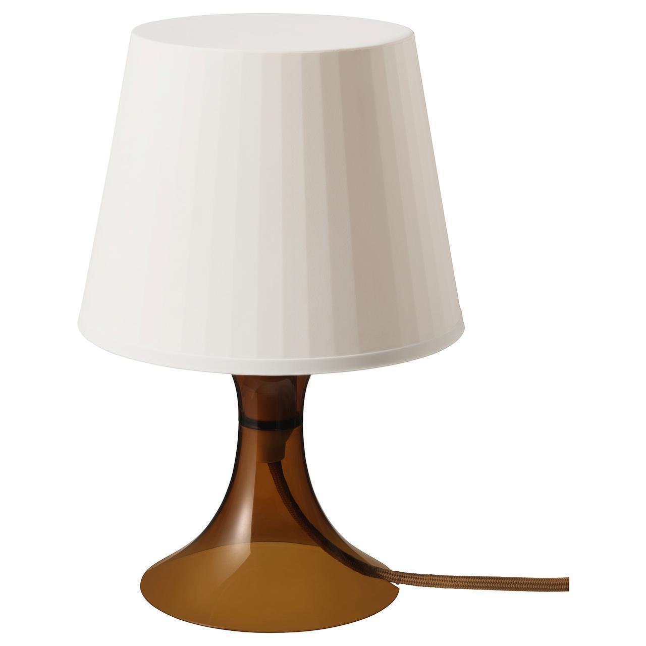 Настольная лампа IKEA LAMPAN 29 см коричневая 103.946.38