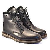 Кожаные зимние мужские ботинки Rosso Avangard Night Whisper Black черные